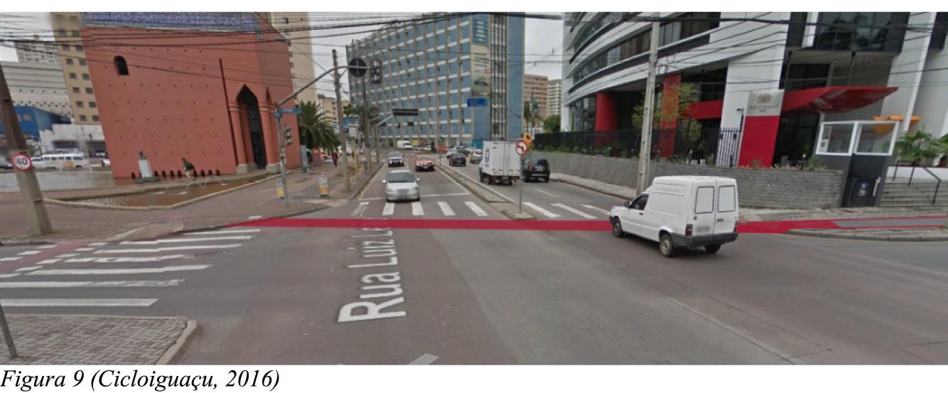 cruzamento da Luiz Leão com a ciclovia terminaria na Praça Gibran Khalil